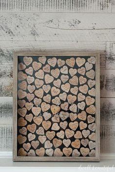 DIY Wooden Heart Guestbook
