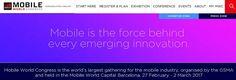 Mobile World Congress  WMC 17  @Barcelona 27 FEV to 2 MAR