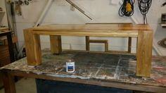 Vandaag 2 massief eiken tafels in de Blue Dolphin Houtveredeling hardwax olie gezet, morgen de tweede laag  #voorsfeervolwonen #marantmeubelen #meubelsopmaat