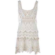 Anna Kaci S/M Fit Beige 1920s Inspired Intricate Woven Detail Crochet... ($20) ❤ liked on Polyvore featuring dresses, 20s dresses, beige dress, 1920s dress, roaring 20s dress and beige crochet dress