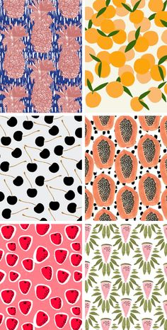 oh how very lovely   mini obsession: fruit patterns