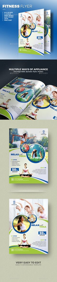 Yoga Flyer - Sports Events Flyer Template, premium quality flyer design template that will suit your small or medium business brand. Download http://graphicriver.net/item/yoga-flyer/15497586?ref=themedevisers