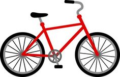 Free clip art of a red bicycle