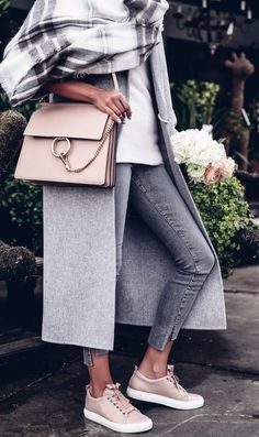 gray + nude. fall. winter style.
