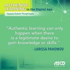 How can you create an environment where students ask questions, do research, and explore subjects that fascinate them? Larissa Pahomov, teacher at the Science Leadership Academy, shares her insight on authentic learning in today's standards-driven classroom in her new book.