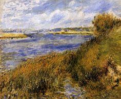 Tableaux sur toile, reproduction de Renoir, Les berges de la Seine à Champrosay