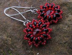 Earrings with Swarovski rivoli