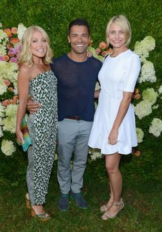 We Ask Cameron Diaz and More at the Baby Buggy Summer Dinner Kelly Ripa Mark Consuelos, Michael Strahan, She Movie, Cameron Diaz, Perfect Couple, Bridesmaid Dresses, Wedding Dresses, Big Star, Warm Weather