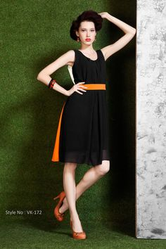 Black Color Designer Party Wear Unique Stylish  Kurti From Skysarees.