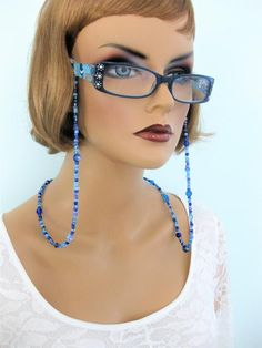 Steampunk, Lanyards, Eye Glasses, Eyewear, Jewelery, Etsy, Chain, Lobster Clasp, Beadwork