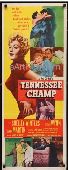 #HappyBirthday #JackKruschen https://eartfilm.com/search?q=Jack+Kruschen #actors #acting #characteractors #TheApartment #CapeFear #TennesseeChamp #Broadway #theater #Batman #Canada #Canadian #movie #movies #poster #posters #film #cinema #movieposter #movieposters    Tennessee Champ, The 1954 14x36 Insert Poster United States