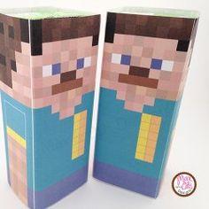 #Minecraft Juice box wrappers - #minecraftSteve printable PDF