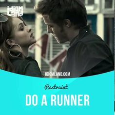 """""""Do a runner"""" means """"to leave a place quickly in order to escape trouble or to avoid paying for something"""".  Text in the clip from """"Restraint"""": - No. They can trace after us. - Give me the cash. - Let's do a runner. - They've seen the car, Ron. - Now give me the cash, and I'll sort it out.  #idiom #idioms #slang #saying #sayings #phrase #phrases #expression #expressions #english #englishlanguage #learnenglish #studyenglish #language #vocabulary #efl #esl #tesl #tefl #toefl #ielts #toeic…"""