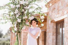 Shot at Pyrgos Petreza in Greece, this chic botanical wedding styling is set amongst Mediterranean greenery and olive groves. Wedding Flower Decorations, Wedding Flowers, Wedding Shoot, Wedding Dresses, Botanical Wedding, Wedding Styles, Greece, Community, Chic