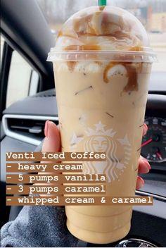 Healthy Starbucks Drinks, Yummy Drinks, Yummy Food, Starbucks Secret Menu Drinks, Starbucks Coffee, Iced Coffee, Coffee Drink Recipes, Coffee Drinks, Food Cravings