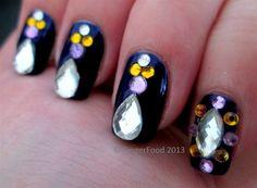 Midnight bling by fingerfood - Nail Art Gallery nailartgallery.nailsmag.com by Nails Magazine www.nailsmag.com #nailart