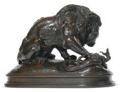 barye, antoine-louis lion au s ||| sculpture ||| sotheby's n09205lot6zbmlen