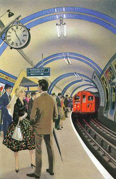 The Story of Railways: The London Underground. Author: Richard Bowood Illustrator: Robert Ayton (1961). 100 Years of Ladybird Books.