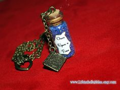Once Upon a Time Magical Necklace with an Old Book Charm Antique Bronze,  by Life is the Bubbles