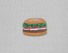 Iron on patch. Hamburger  patch