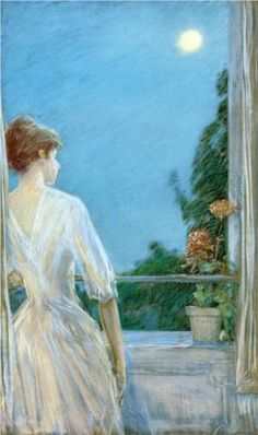 On the Balcony - Childe Hassam