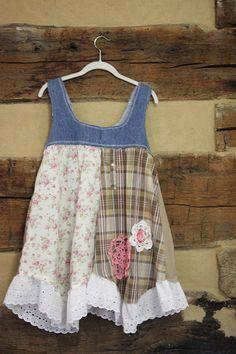 Boho Chic Hippie Patchwork túnica mujer superior reciclado