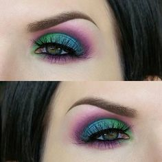 Full spectrum palette! I'm loving this palette, guys. If you are a color lover like I am, you need it. @urbandecaycosmetics has been one of my favorite brands since I started playing with makeup and this palette has instantly made it to the top of my favorites list. This look was done primed with @katvondbeauty white out concealer, which is my favorite base for bright colors, then set with 'Bump' from the palette. The crease and lower lash line are a mix of paranoia, gossip, and delirious…
