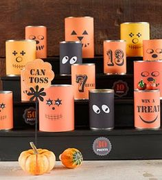 Halloween - cans, repurposed