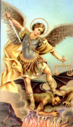 """Archangel Michael is a holy figure in Judaism, Christianity, and Islam. His name means """"Like Unto God"""" or """"Who is Like God"""" In Catholic and Christian Orthodox traditions, he is sometimes known as Saint Michael or Saint Archangel Michael. Angels Among Us, Angels And Demons, St Michael Prayer, Saint Michael, Holy Michael, Michael Angel, Archangel Prayers, I Believe In Angels, San Gabriel"""