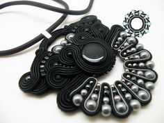 soutache earrings and pendant / kolczyki i wisior soutache Alina Tyro-Niezgoda Tender December