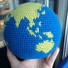Crochet Globe Pattern World Earth Amigurumi by KaperCrochet