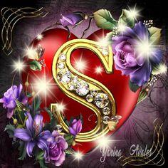By sakshi Shukla Maa Wallpaper, Fairy Wallpaper, Flower Background Wallpaper, Heart Wallpaper, Flower Backgrounds, Nature Wallpaper, Alphabet Letters Design, Fancy Letters, Flower Letters