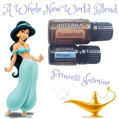 Disney Princess Essential Oil Blend Series ‍♂️ • A Whole New World Blend was inspired by the beautiful Princess Jasmine. This blend is very feminine, and when used as a 'pure'fume, it will make you feeling like a Princess. Grapefruit is uplifting and cleansing. Whisper is doTERRAs Women's Blend. It combines with each individual's chemistry to create a beautiful, unique, and personal fragrance. • Diffuser: 4 drops Grapefruit 2 drops Whisper OR 10mL Purefume Roller 8 drops Grapefruit 4 drops…