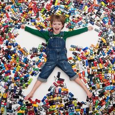 Boy and toys photo