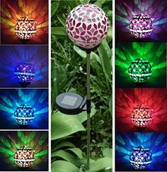 "Beautiful Solar Rose-pink 3.5"" Mosaic Glass Ball Light , Color Changing Garden Stake Yard Landscaping LED Lamp Lights, http://www.amazon.com/dp/B00LJIZQ9M/ref=cm_sw_r_pi_awdm_iRLtvb0KTW3T4"