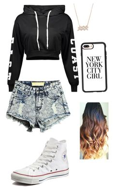 """""""Go to the park with friends"""" by gisselleotero on Polyvore featuring Converse and Casetify"""