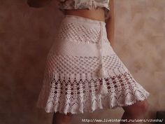 Summer Skirt free crochet graph pattern