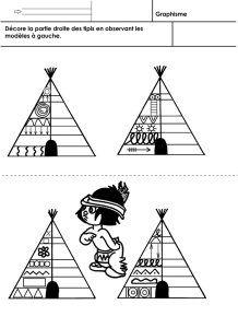 Les Indiens d'Amérique, graphisme