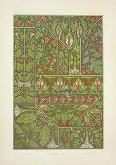 """Datura, Arum Lily"" from Anton Seder Die Pflanze Art Nouveau Prints 1890"