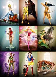 These would make cool pin up tattoos for that special little disney freak. :P