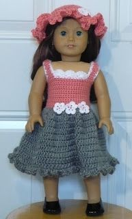 Hello, Today sharing are all about doll. My daughter, Faye, is finally got her first American girl doll and her name is Saige. American Doll Clothes, Ag Doll Clothes, Crochet Doll Clothes, Knitted Dolls, Doll Clothes Patterns, Crochet Dolls, Doll Patterns, Knit Crochet, Journey Girl Clothes