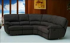New York Contempory Sectional with 2-Recliner Sectional Fabric Sofa