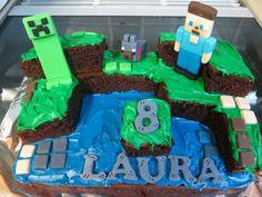 Easy minecraft cake.