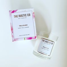 Tallulah 🌸 sweet pea & jasmine Rustic Candles, Soy Candles, Jasmine, Place Cards, Place Card Holders, Sweet, How To Make