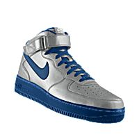 I designed the silver and blue Nike Air Force 1 Mid iD men's shoe.