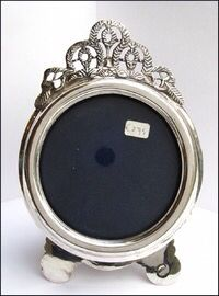 Antique silver photo frame.