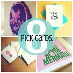 """summertime is a perfect time to get your little ones to sit down and write letters. grandparents, besties and teachers will love it i just adde the --You Pick  8 notecards -- to the shop. a simple way to """"get your mail on."""" on etsy."""