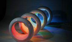 amazing table lamps - LUNE color-changing LED mood lamp From Cielux