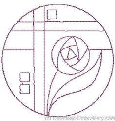 mackintosh rose stencil - Google Search
