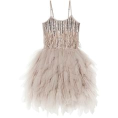 WILD AND GORGEOUS TUTU DRESS NUTMEG ($169) ❤ liked on Polyvore featuring dresses, beaded dresses, embellished dress, beading dress, brown dresses and embelished dress